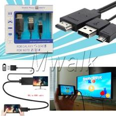 Kabel MHL Micro USB to HDMI (Mobile Phone HDTV) 11pin - Hitam