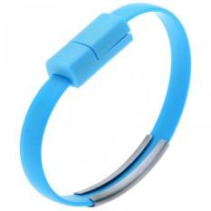 Kabel Micro USB Bentuk Gelang Silikon