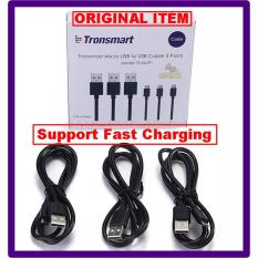 Rp 180.000. Kabel Tronsmart Fast Charging Micro USB To USB 2.0 Cable 1 Meters (3PCS) ...