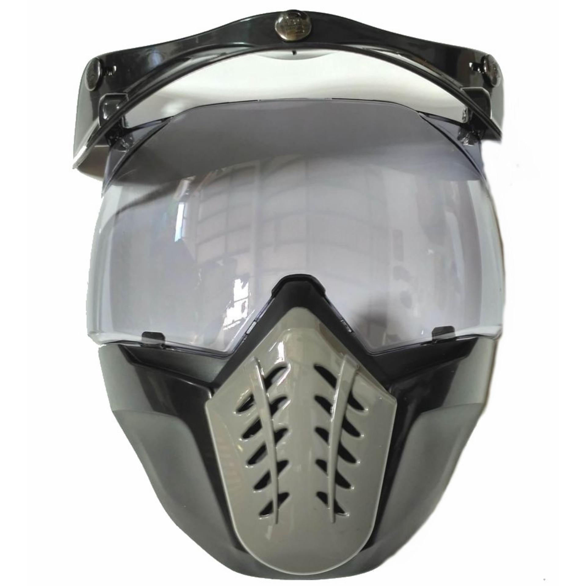 Harga Kaca Helm Retro Alien Mask Modular Masker Topeng Smoke Oem Original