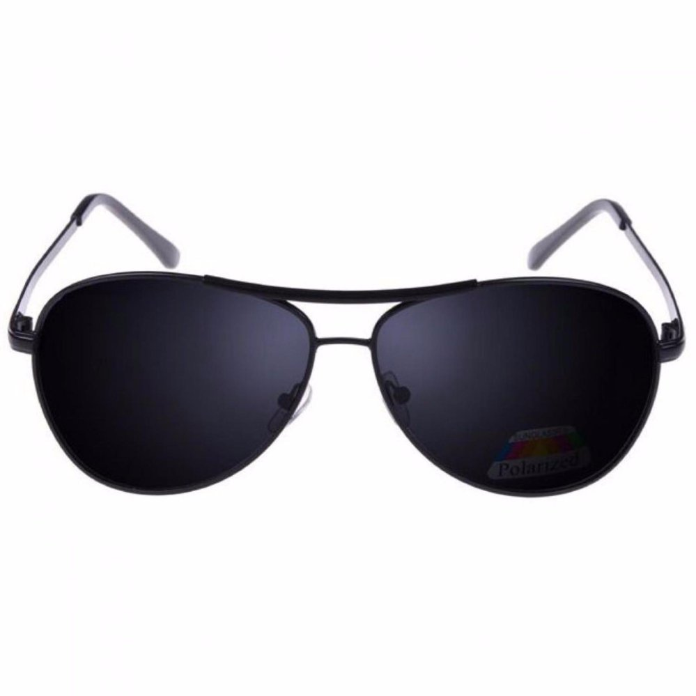 Kacamata Hitam Polarized Keren Kacamata Hitam Pria Wanita - Hitam 156af9f8a4