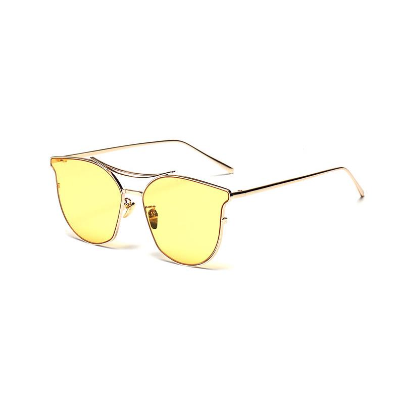 Beli Kacamata Hitam Wanita Mata Kucing Kacamata Matahari Warna Kuning Merek Desain Intl