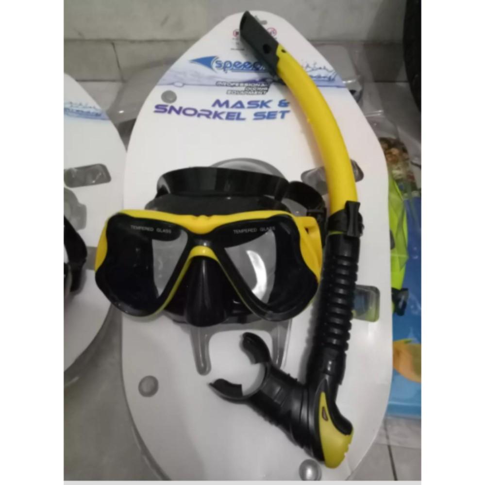 Kacamata Snorkeling Selam Alat Snorkel Ranang Snorkling Diving Merk Speeds