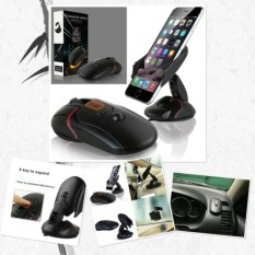 Kado Unik-- Car Holder Bentuk Mouse 360 Derajat / Tempat Tatakan Dudukan Smartphone Hp Di Mobil / Car Holder Model Mouse