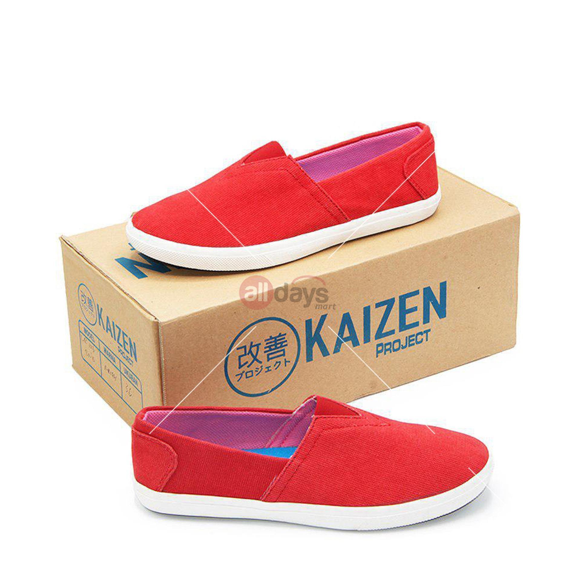 Toko Kaizen Sepatu Slip On Kanvas Sneakers Wanita B Lsc 123 2Nd Hk 01 Merah Size 36 40 Terdekat
