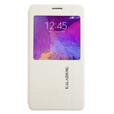 Kalaideng Iceland II Leather Case Flip Cover Samsung Galaxy Note 4 N9100 – Putih