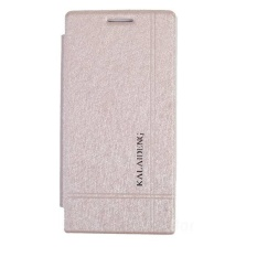 Kalaideng Iceland Leather Case Flip Cover Huawei Ascend P6 – Cream