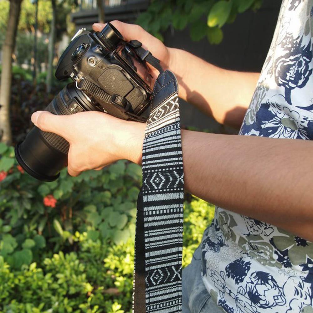 Kamera Vintage Leher Bahu Sabuk Tali Sling untuk Nikon Canon Sony Panasonic SLR DSLR Ildc