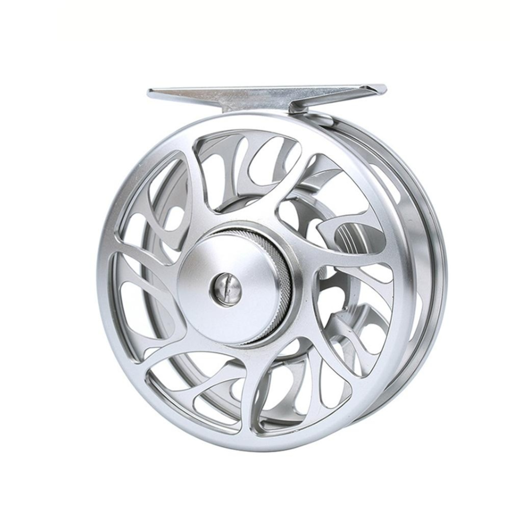 Kanan/Kiri Handed Bodi Paduan Aluminium dan Spool Fly Fishing Reels dengan Besar Arbor 2