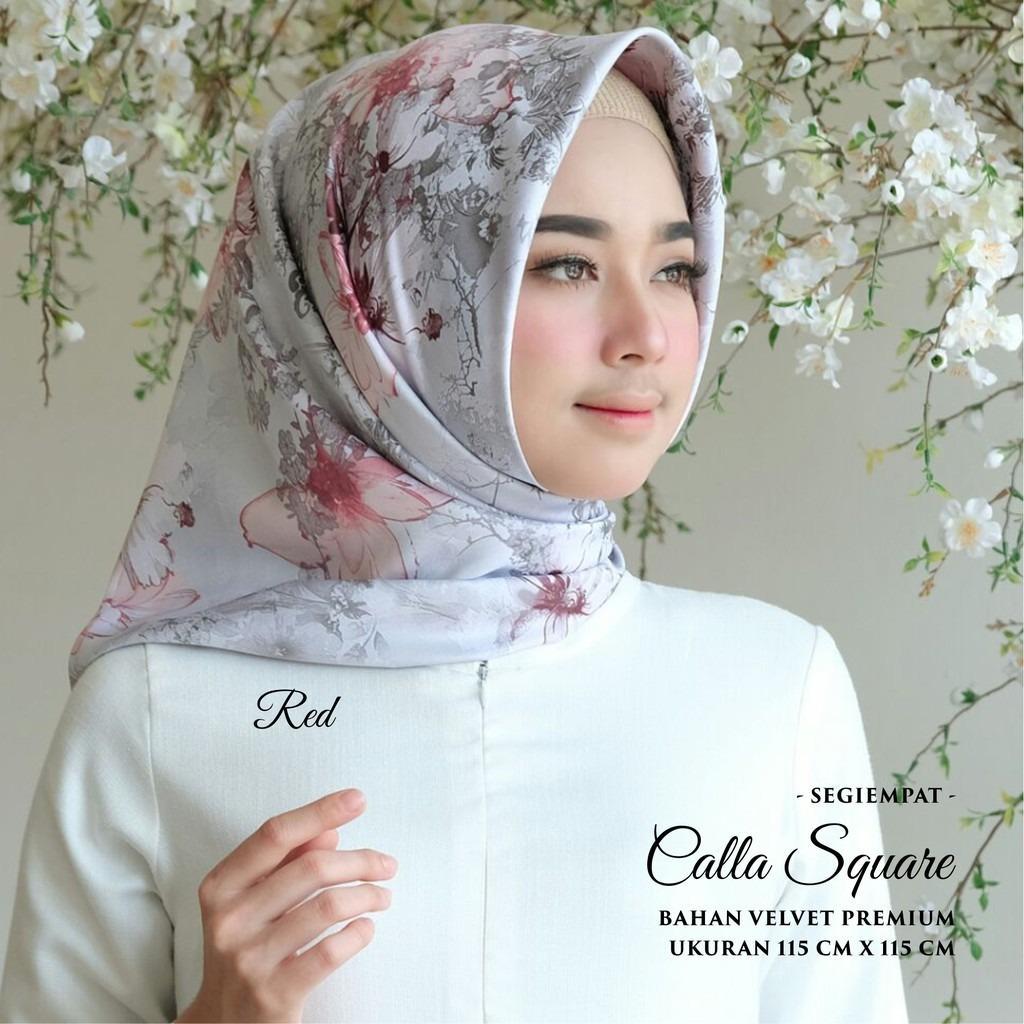 Perbandingan Harga Kananta Hijab Segi Empat Motif Jilbab Segi Empat Motif Kerudung Segi Empat Motif Square K Calla Bahan Kain Velvet Premium Di Indonesia