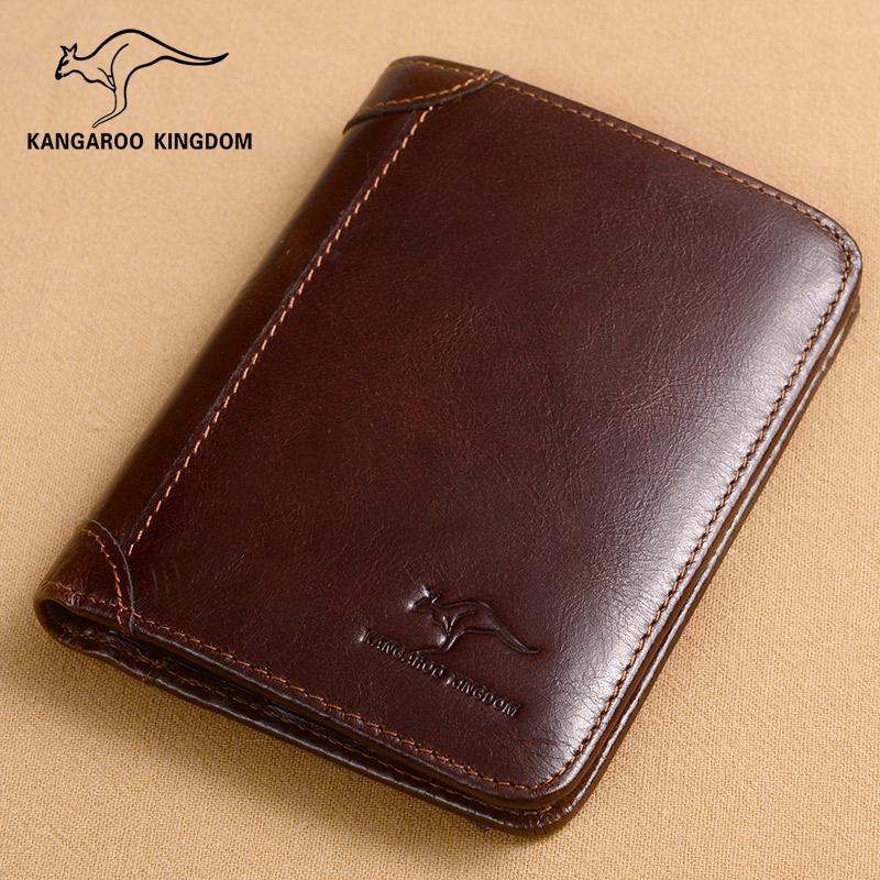 Spesifikasi Kangaroo Kingdom Dompet Pria Kulit Asli 363 208 K Minyak Lilin Kulit Coklat Merah Murah Berkualitas