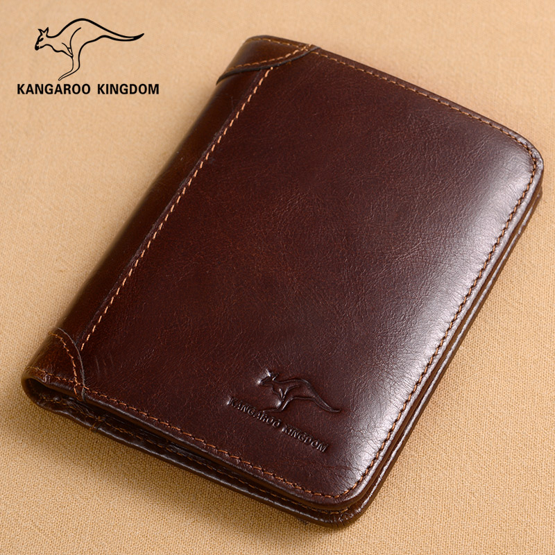Beli Kangaroo Kingdom Dompet Pria Kulit Asli 363 208 K Minyak Lilin Kulit Coklat Merah Cicil