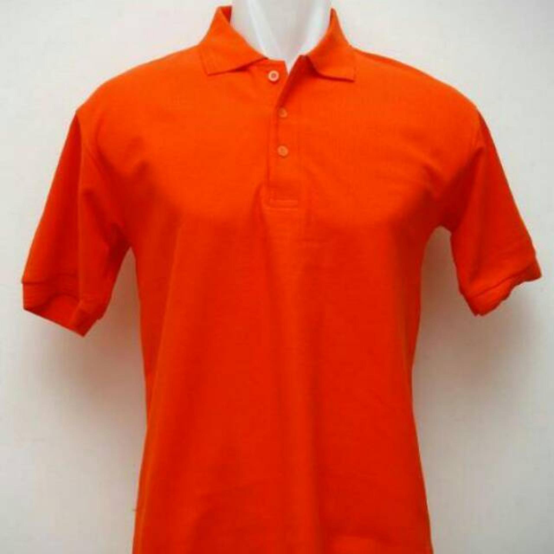 Kaos kerah murah / polo shirt / polo shirt orange / banyak warna / berkerah / cowok cewek / baju polo polos / grosir kaos / kaos murah / Orange