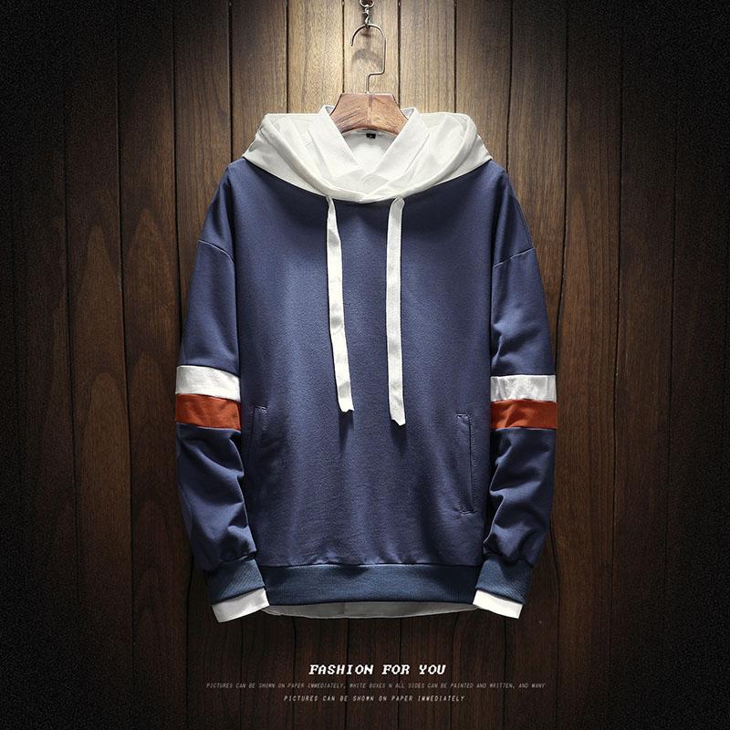 Rp 299.200. LOOESN Korea Fashion Style laki-laki berkerudung musim gugur sweater hoodie (W17119 merah) ...