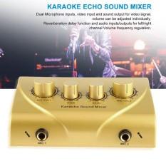 Karaoke Sound Mixer Professional Audio System Machine Portable Mini Digital Gold - intl