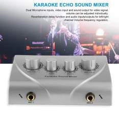 Review Terbaik Karaoke Sound Mixer Professional Audio System Machine Portable Mini Digital Silver Intl