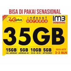 Jual Kartu Perdana Internet Indosat 35Gb Indosat Freedom Combo Original