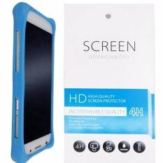 Kasing Silikon Universal Bumper Case Wadah Cover Casing - Biru + Gratis 1 Clear Screen Protector untuk Lenovo Golden Warrior Note 8