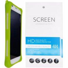 Kasing Silikon Universal Bumper Case Wadah Cover Casing - Hijau + Gratis 1 Clear Screen Protector u