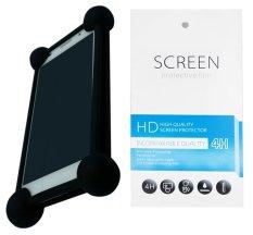 Kasing Universal Wadah Cover Silikon Case Casing - Hitam + Gratis 1 Clear Screen Protector for Lenovo Golden Warrior Note 8