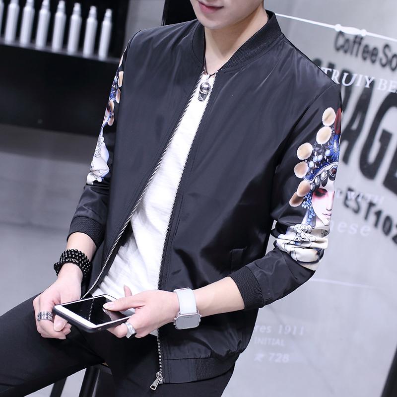 Kasual Pria Bagian Tipis Ramping Atasan Jaket (Hua atau Model)