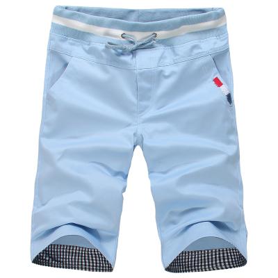 Celana Pendek Remaja Musim Panas Celana Selutut Kasual Pria (Danau Biru)