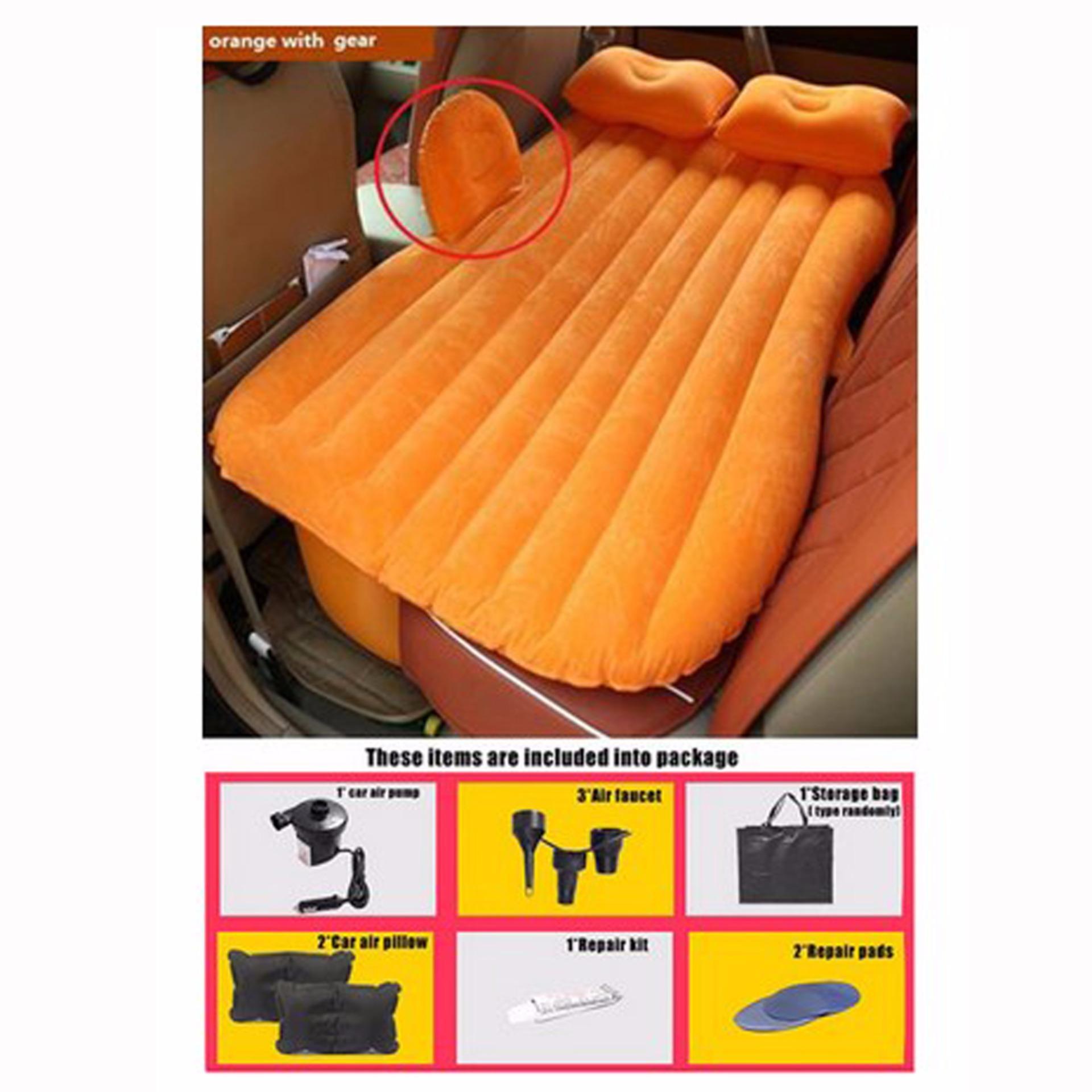 Kasur Mobil Matras Mobil Serbaguna Untuk Piknik Camping Rekreasi Renang Tidur Persiapan Lebaran Sofa Dadakan Orange