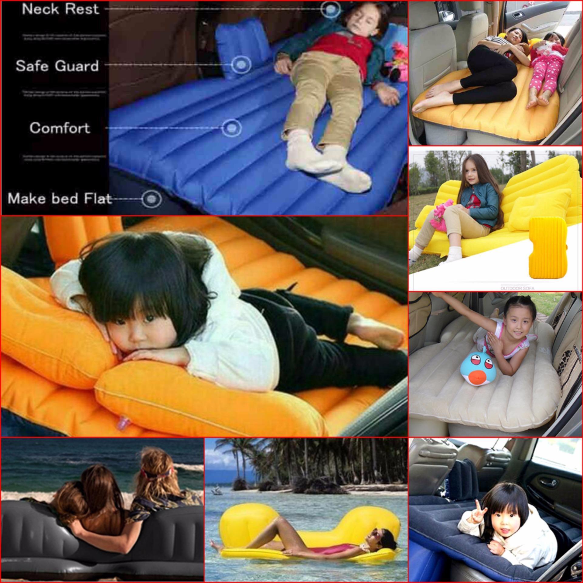 Kasur Mudik Lebaran Kasur Anak Car Air Bed Persiapan Mudik Pulang Kampung Tempat Tidur di Mobil Kasur Mobil Orange