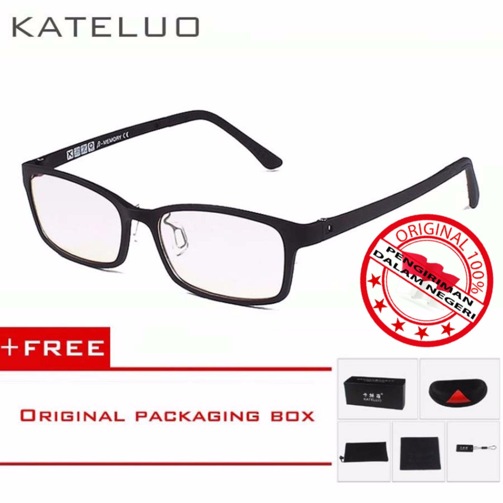 Kualitas Kateluo 1310 Kacamata Anti Radiasi Komputer Frame Anti Radiasi Gadget Original Kateluo