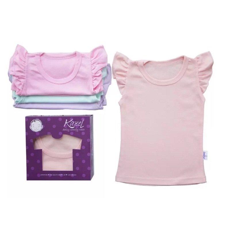 Spesifikasi Kazel Ruffle Shirt For G*rl Pastel Kazel Terbaru