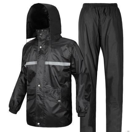 Keamanan sanitasi lalu lintas hujan celana reflektif jas hujan jas hujan ( Jas biru tua)