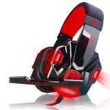 Harga Kebisingan Membatalkan Lampu Led Atas Headphone Telinga With Mikrofon For Permainan Komputer Merah Seken