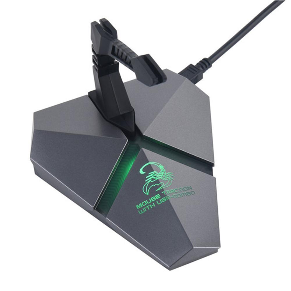 Kecepatan Tinggi 3-Port USB 2.0 Data Gaming HUB dengan Mouse Bungee USB HUB Splitter Micro SD Card Reader mouse Clamp dengan USB-COMBO Built-In Tujuh Warna Backlit LED Light TF Card Slot-Intl