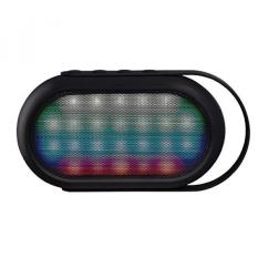 KeeNetic Suara Neon Speaker Portabel Bluetooth Nirkabel dengan Warna LED Dancing Mode, Dibangun Di Mikrofon Dukungan Fungsi Hands-free untuk IPhone, Samsung, Nexus, dan Lainnya-(Hitam)-Intl