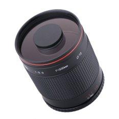 Kelda 500mm F/8,0 Cermin Lensa Tele With T Gunung For Canon EOS 1D Mark IV III II 5D 7D 60D Nikon DSLR Kamera (hitam)