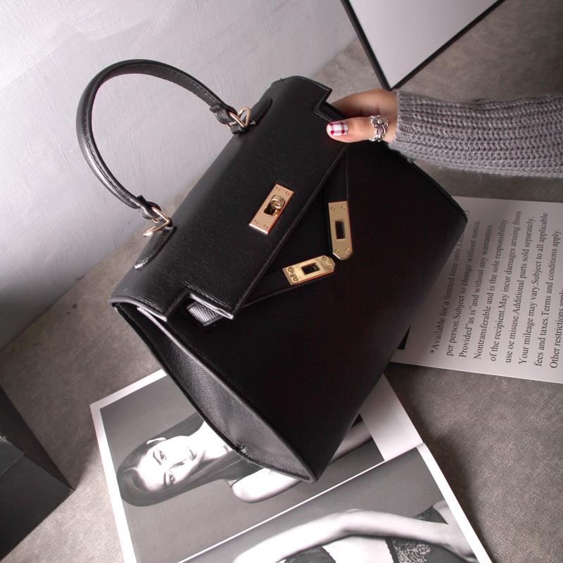 Kelly Eropa Dan Amerika Tas Model Hermes Jinjing Tas Bahu Dengan Satu Tali Messenger Tas Tas Besar (Hitam) Tas Tas Wanita Tas Selempang Wanita Tas Mini Wanita