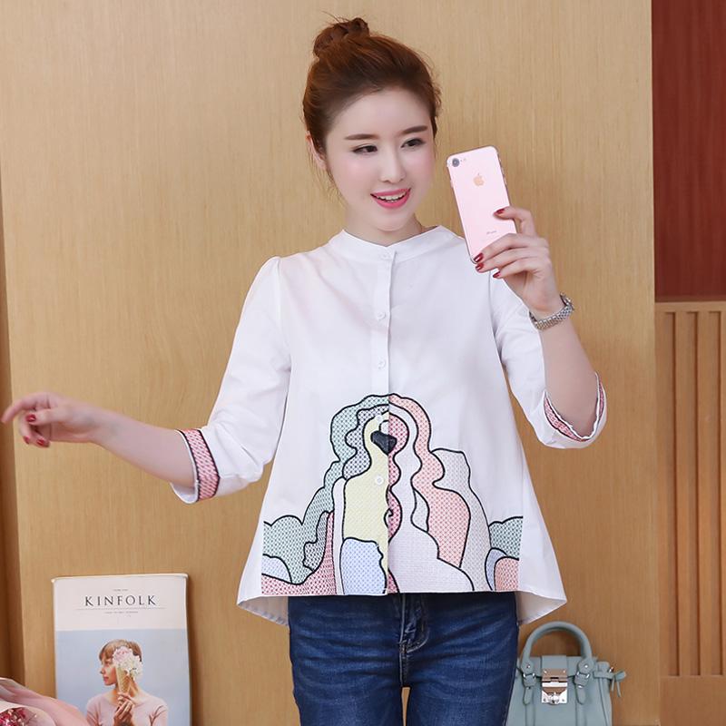 Rumah Korea Perempuan Baru Siswa Blus Kemeja Putih Putih Original