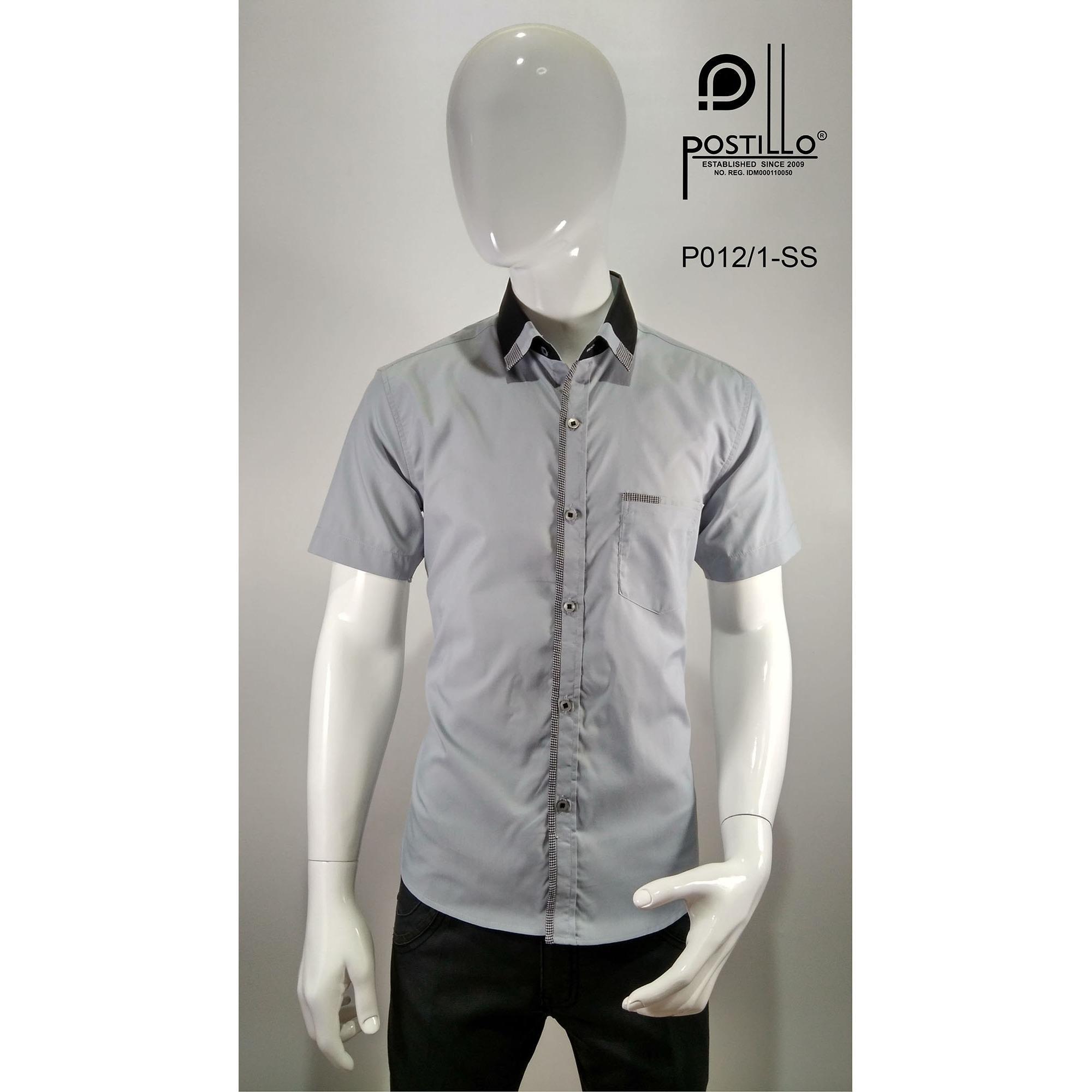 Kemeja Fashion Pria Slim Fit Postillo P012-1-SS
