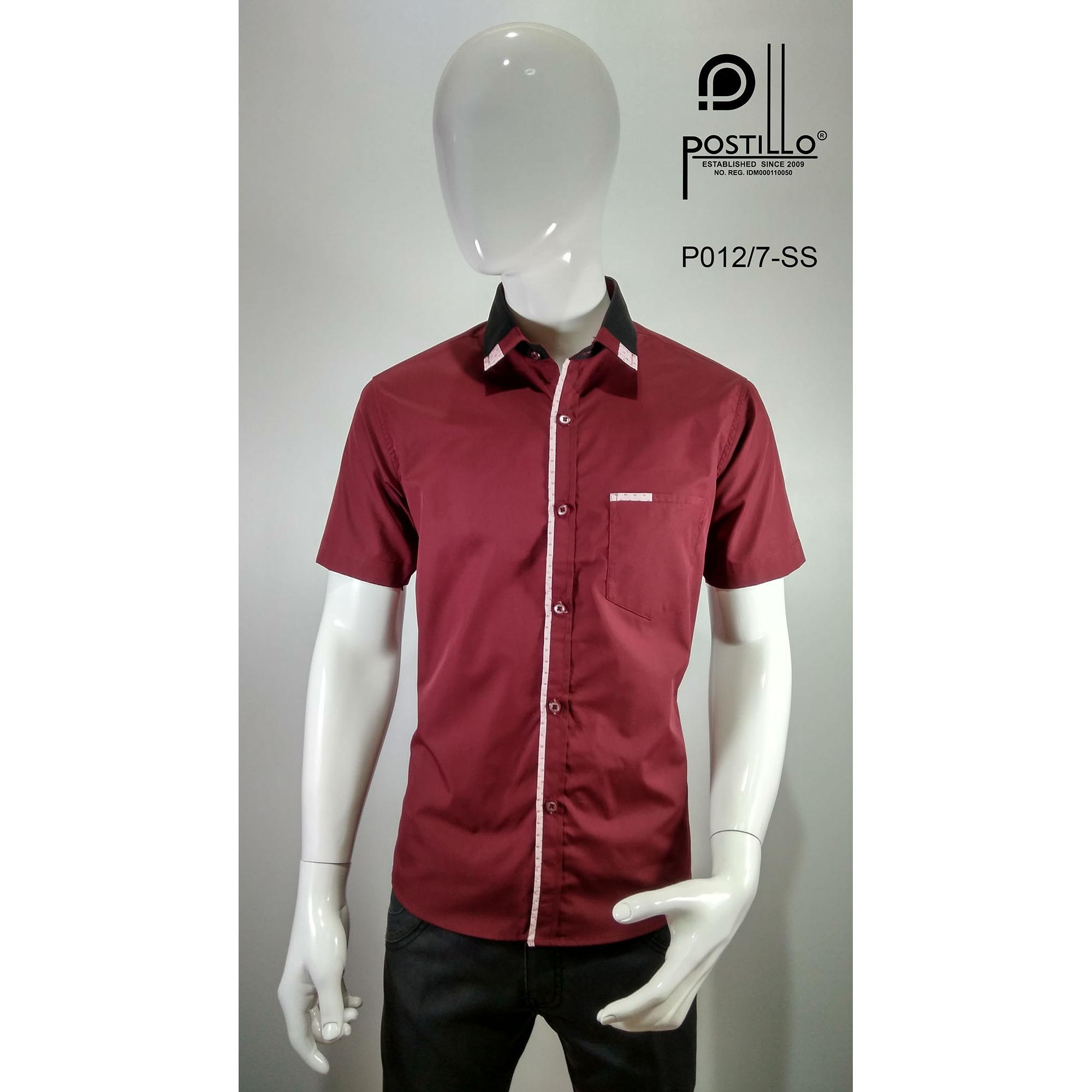 Kemeja Fashion Pria Slim Fit Postillo P012-7-SS