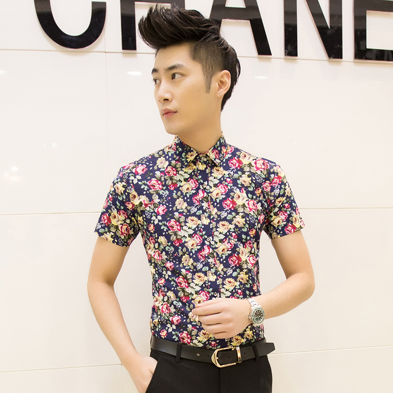 Musim panas pria lengan pendek kemeja (D05 biru) OE427FAAASESVLANID-63882481 Taobao