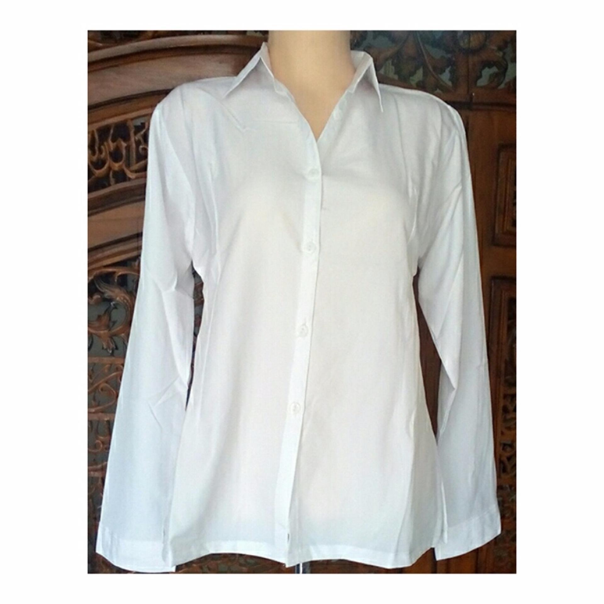 Beli Barang Kemeja Wanita Baju Wanita Polos Putih Polos Online