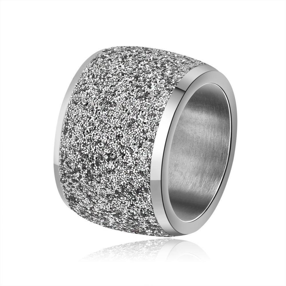 Harga Kemstone Gaya Menawan Titanium Steel Ring Frosted Lebar Jari Cincin Untuk Women Intl Asli Kemstone