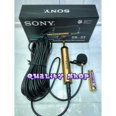 Jual Kenwood Condenser Clip On Microphone Sn 33 Mic Jepit Mic Imam Sony China Asli
