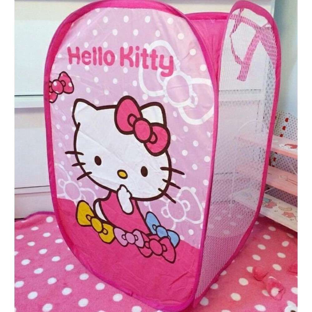 Keranjang Baju Kotor / Keranjang Baju Lipat - Karakter Lucu - Hello Kitty By Search Store.