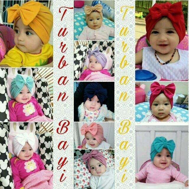 Kerudung turban bayi