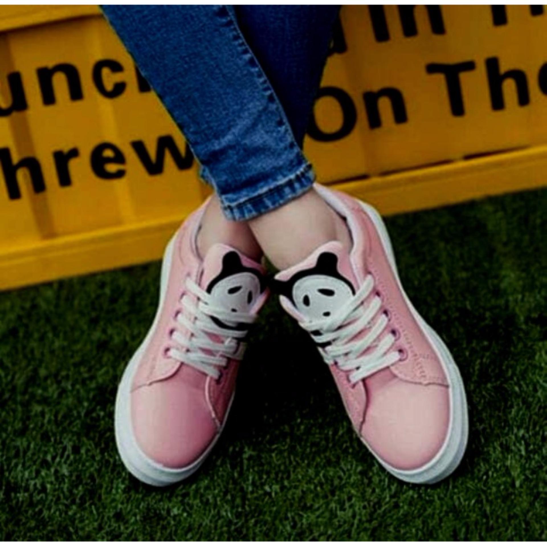 Beli Kets Cewek Casual Kets Panda Mn12 Pink Sepatu Kets Wanita Lucu Murah Hot Sale Fashion Cewek Murah