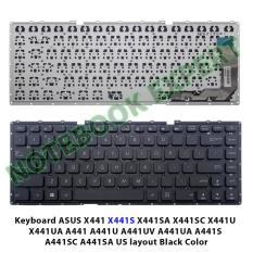 Keyboard ASUS X441 X441S X441SA X441SC X441U X441UA A441 A441U Black