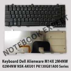 Keyboard Dell Alienware M14X 2M4NW  02M4NW NSK-AKU01 PK130G81A00 Black