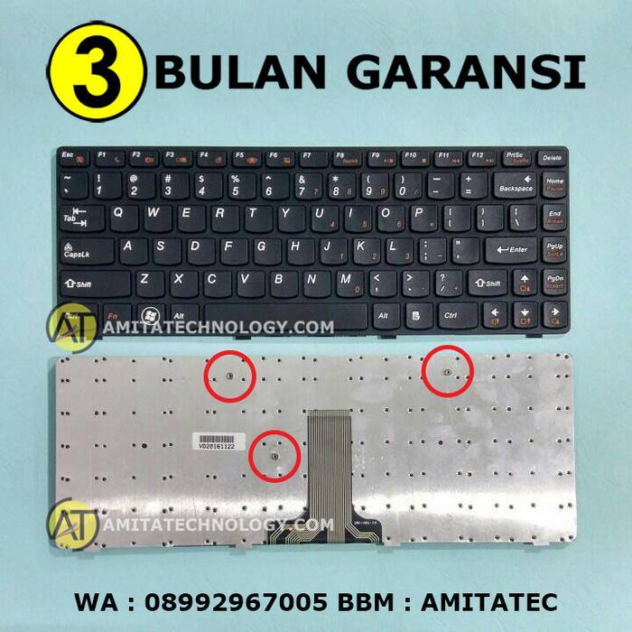 Amita - Keyboard Laptop ORIGINAL Lenovo G480 G485 V480 V485 B480 B485