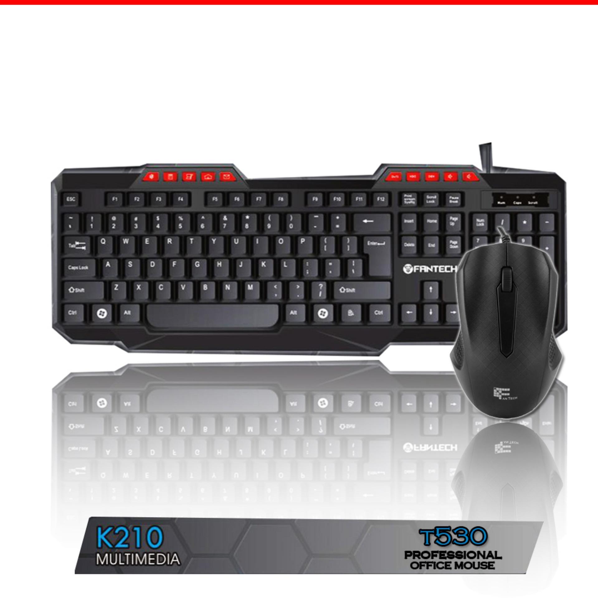keyboard multimedia K210+ mouse office t530